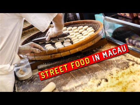 STREET FOOD in Macau, China 🥪 ft Spicy Pork Bun