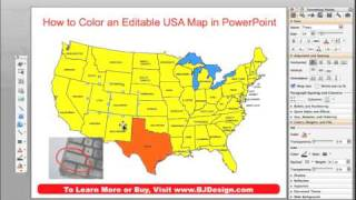 How Do I Color a US State, County or Country Map in a PowerPoint Slide? • BJDesign.com