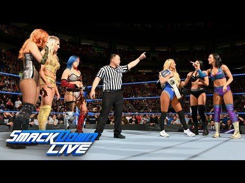 Charlotte Flair, Asuka & Becky Lynch vs. Carmella & The IIconics: SmackDown LIVE, May 1, 2018 thumbnail