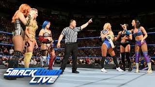 Charlotte Flair, Asuka & Becky Lynch vs. Carmella & The IIconics: SmackDown LIVE, May 1, 2018