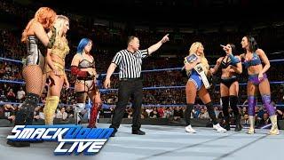 Charlotte Flair, Asuka & Becky Lynch vs. Carmella & The IIconics: SmackDown LIVE, May 1, 2018 ビッキーカンピオン 検索動画 23