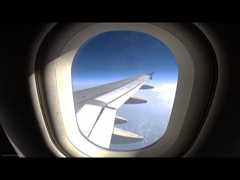 Aegean A320 (ex Cyprus Airways) Full Flight LCA-SKG - GoPro Wing View Takeoff/Landing