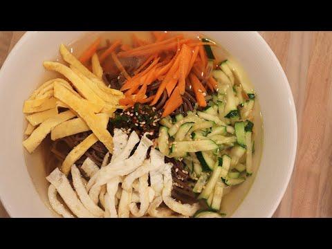 [recette-végétarienne]-soupe-aux-nouilles-soba-(blé-noir)-/-온메밀국수-따뜻한국물이-생각날때-시원한맛에-온메밀국수-드세요-~