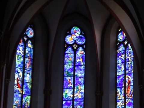 Marc Chagall - Fenster  in St. Stephan, Mainz - mit Erklärungen