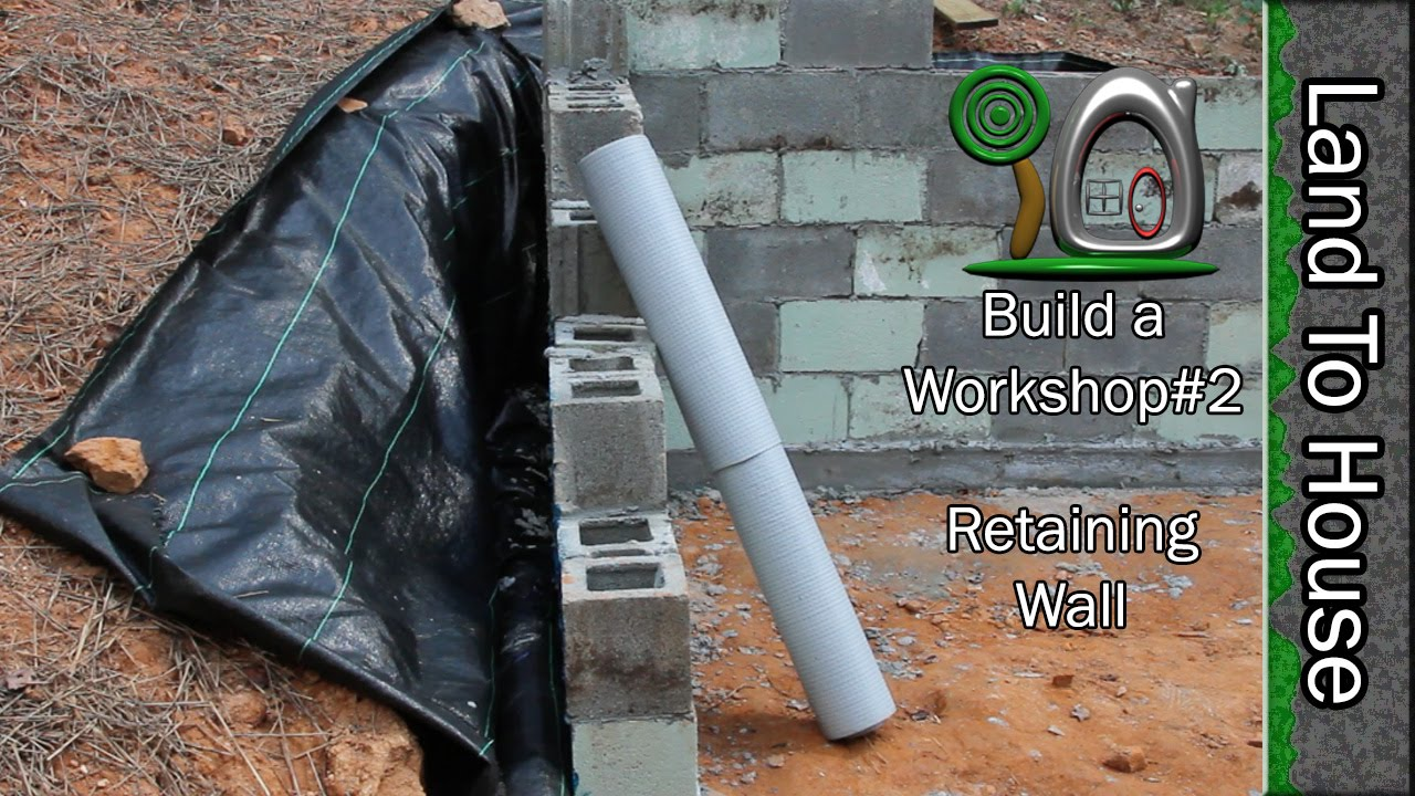 Build A Block Retaining Wall Work 2