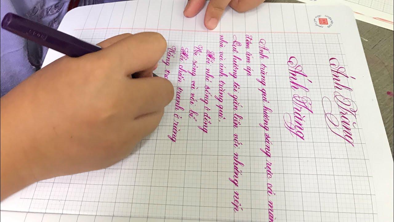 Luyện chữ cùng học sinh tiểu học✍️ Bé Ánh Minh lớp 3 luyện tập nét sáng tạo