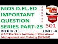 NIOS D.EL.ED IMPORTANT QUESTION SERIES PART-25 Free Online Courses|TEJ TUBE