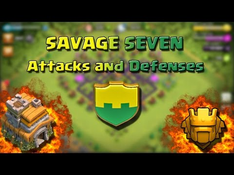 Attacks and Defenses TH7  Savage Seven  Clash of Clans ITA