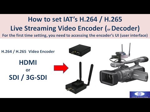How To Set IAT H.264 H.265 HDMI SDI Encoder For YouTube Facebook Live Streaming For The First Time