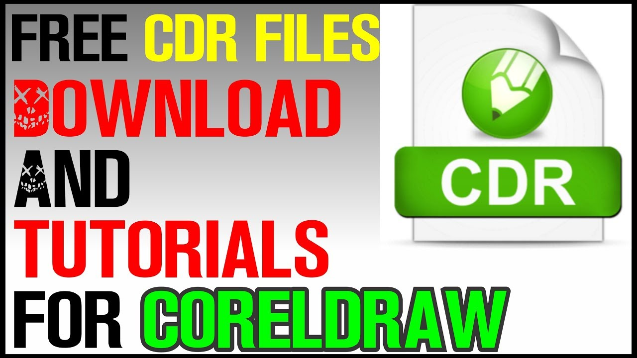 How to Download Free cdr files For CorelDraw | Free Victor Downloading |  Modify Sticker