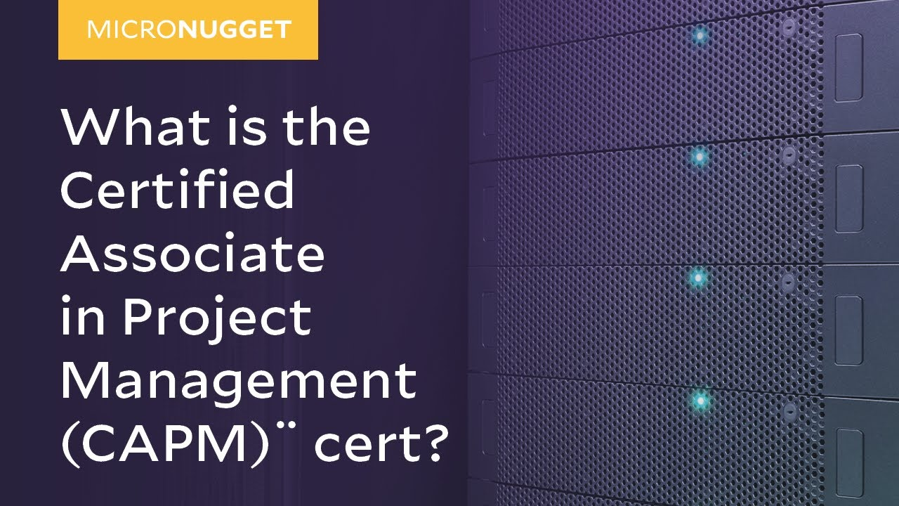 Micronugget What Is The Certified Associate In Project Management