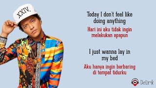 The Lazy Song - Bruno Mars (Lyrics video dan terjemahan)