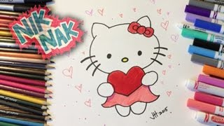 How to Draw Hello Kitty by NIK NAK