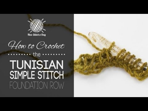 How to Crochet the Tunisian Simple Stitch Foundation Row (Left Handed) - YouTube