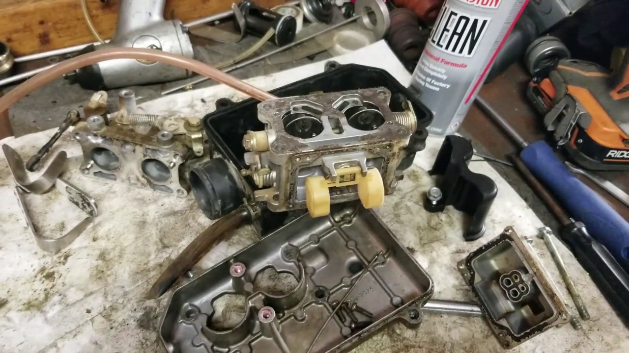 hight resolution of disassembling kawasaki mule kaf620e carburetor