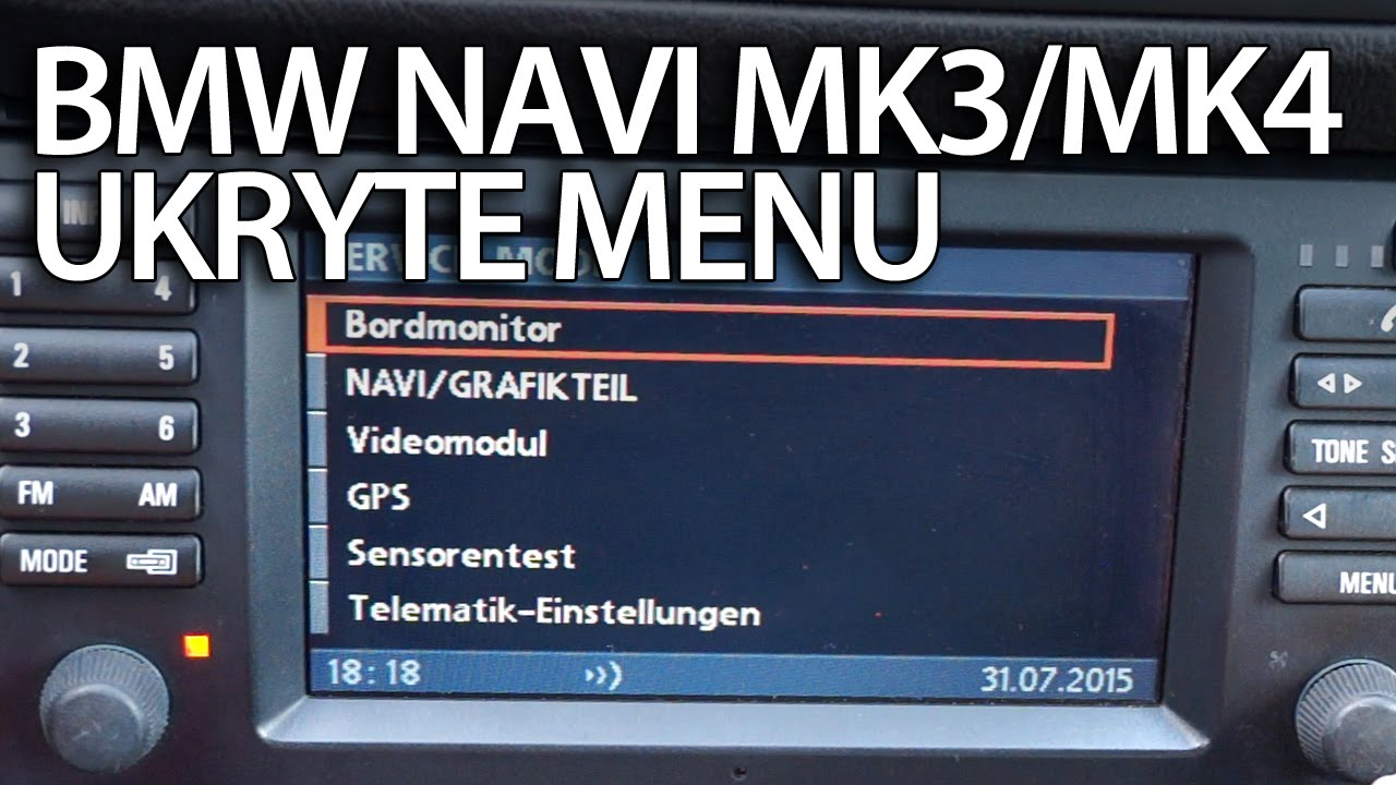 Tryb Serwisowy Nawigacji Bmw Mk3 Amp Mk4 Ukryte Menu Gps
