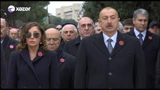 Prezident İlham Əliyev və birinci xanım Şəhidlər xiyabanını ziyarət etdi