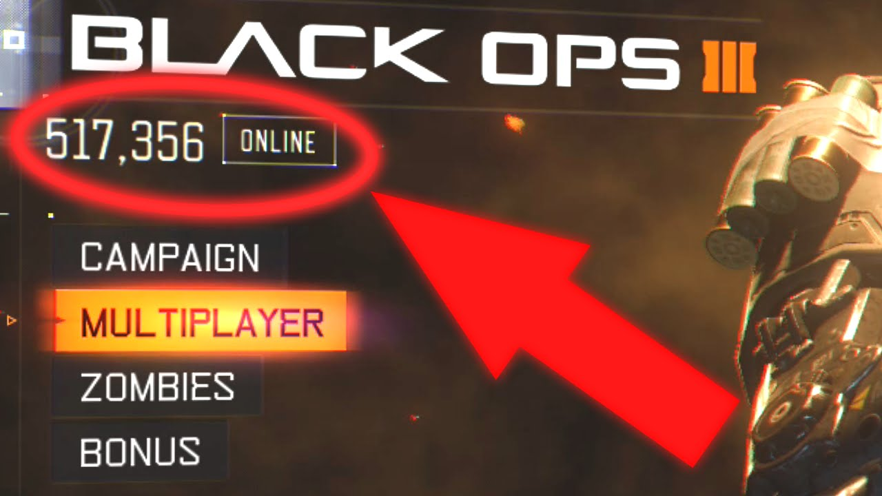 How to See ONLINE PLAYER COUNT in Black Ops 3!