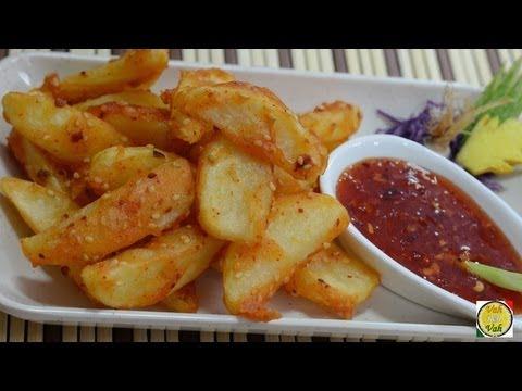 Crispy Potato Wedges - By Vahchef @ vahrehvah.com