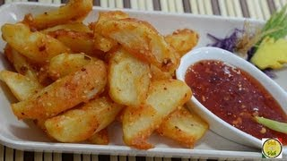 Crispy Potato Wedges - By Vahchef @ Vahrehvah.com