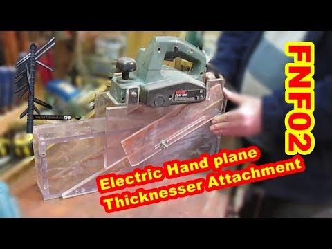 Homemade electric hand plane thicknesser attachment. FNF 02