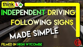 Independent Driving in High Wycombe Following M40 Signs @ Think Driving School