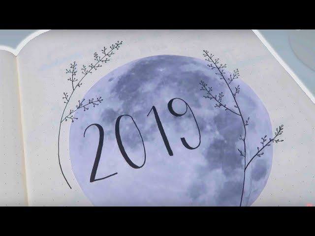 Bullet Journal SET UP 2019! Flower and moon theme | Mina Jacobsen