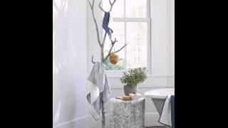 DIY Branch Coat Rack In Bathroom
