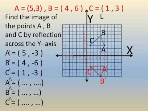 prep 1 geometry  math lessons second term exercise on reflection شرح ماس اولي اعدادي