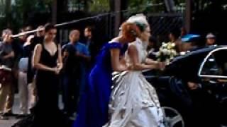 SEX AND THE CITY MOVIE - 2 of 3 LIVE clips from the filming of the Wedding Scene !!!