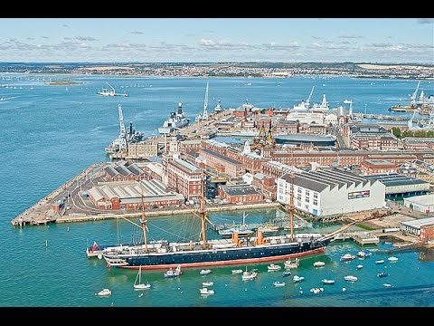 A Walk Around The Portsmouth Historic Dockyard, England