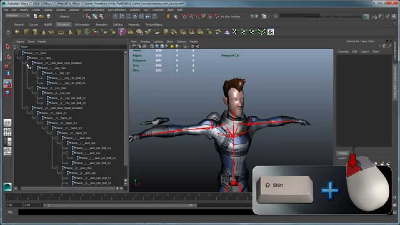 Character Design Unity : Creating a mobile game prototype using maya lt unity