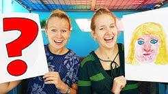 WIR MALEN UNS GEGENSEITIG Challenge mit Nina & Kathi Painting Each Other | Versteckte Künstlerinnen?