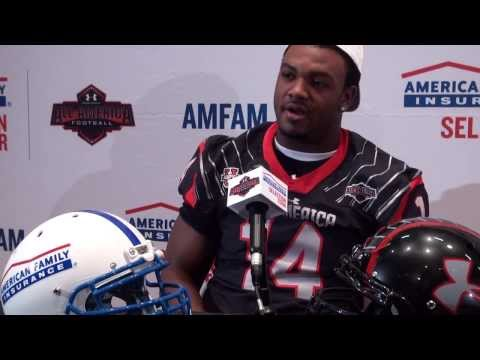 Andrew Brown receives honorary 2014 Under Armour All American Jersey