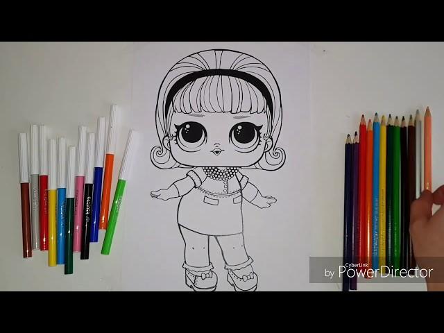 Dibujos para colorear |como colorear LOL SURPRISE|