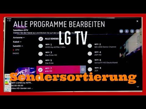LG WebOS TV Sender Sortieren Tutorial