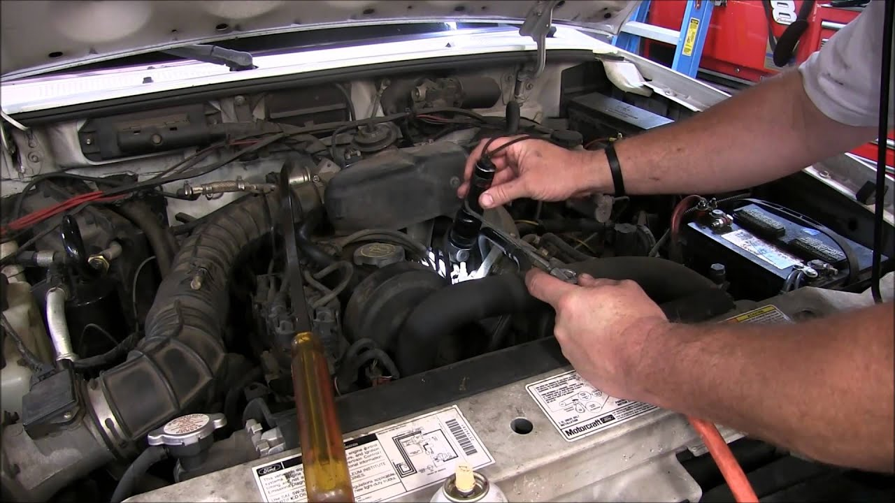 Ford Starter Wiring Diagram  Xlt How To Replace An Injector On A 2000 Ford Ranger Youtube