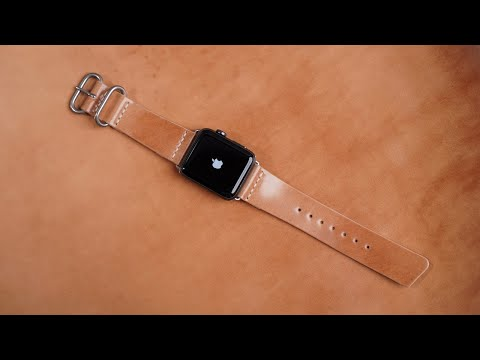 Making A Leather APPLE WATCH Strap From SHELL CORDOVAN