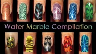 Nail Art Compilation | Water Marble March 2012