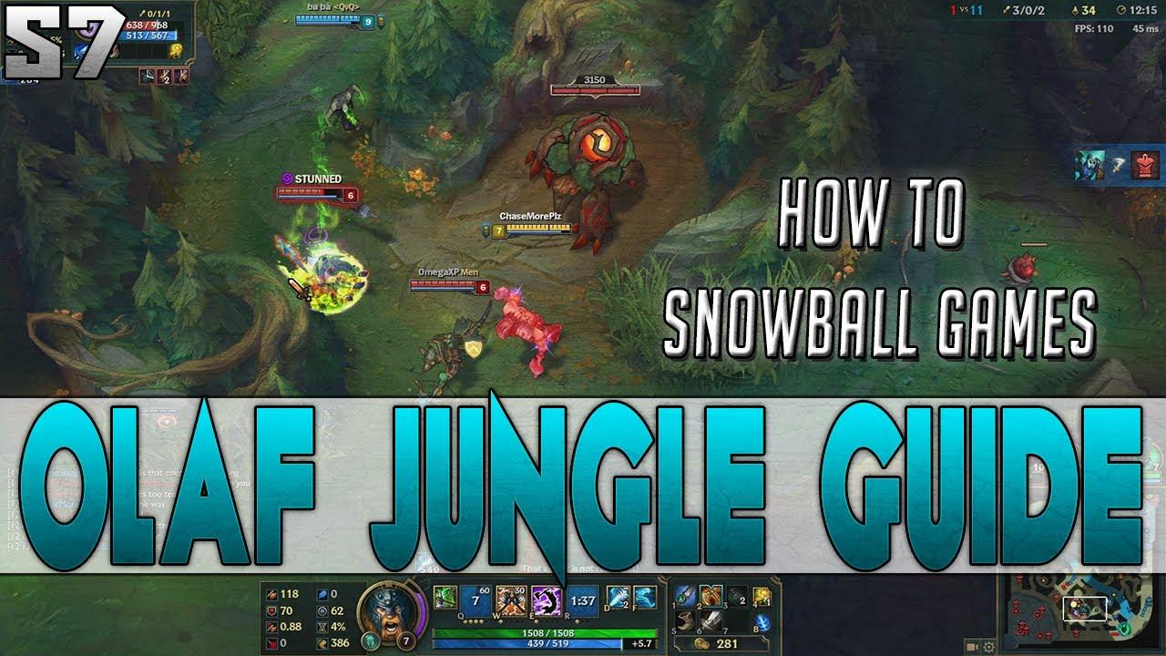 Season 7 SAVAGE! Olaf Jungle Guide - Black Halo Live Full Gameplay ...