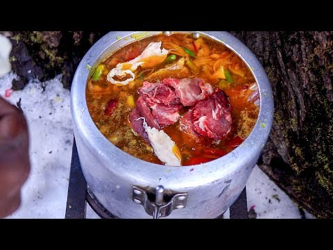 Traditional Mutton Recipe - Survival Cooking in The Himalaya