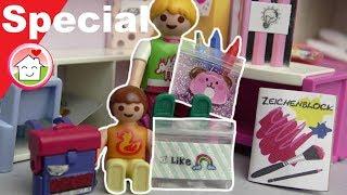 Playmobil deutsch - Pimp my PLAYMOBIL - Schulsachen Spezial von Familie Hauser - DIY für Kinder