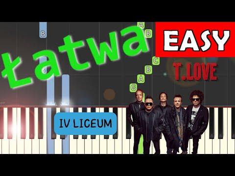🎹 IV Liceum (T.Love) - Piano Tutorial (łatwa wersja) 🎹
