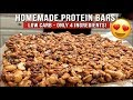 Simple Low Carb Protein Bars - No Cooking Required!