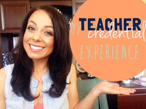 my california teaching credential experience {single subject
