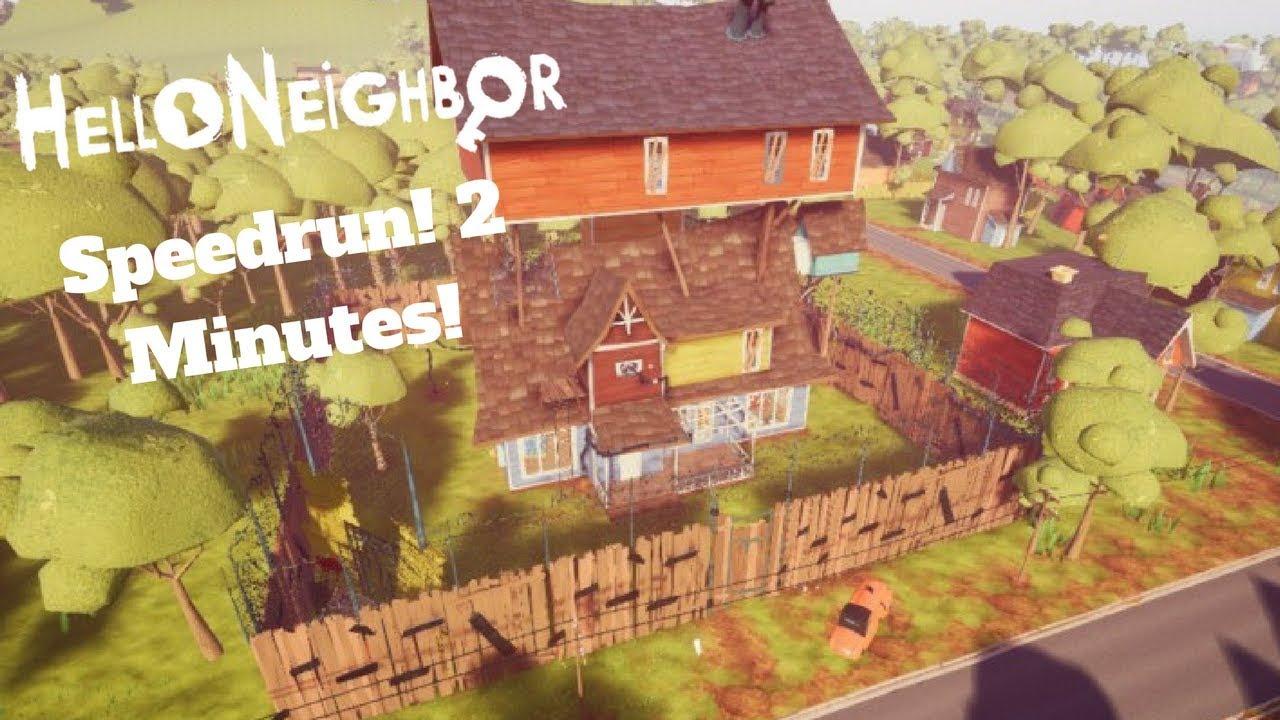 Hello Neighbor Act 2 Speedrun [2 MINUTES]