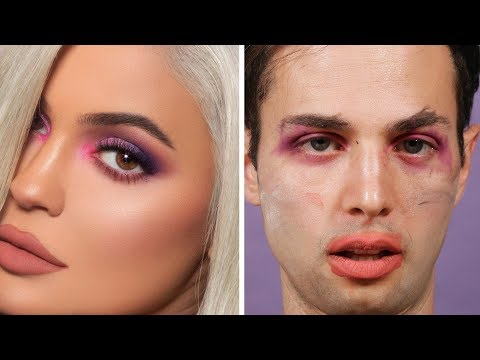 The Try Guys Recreate Celebrity Makeup Looks Drunk