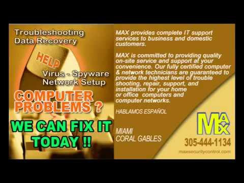 Miami Computer Repair  - DataRecovery Virus_Spyware - LowRates.avi
