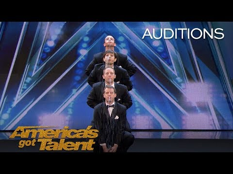 Human Fountains: Men Spit Water And Swap Spit With Tyra Banks - America's Got Talent 2018