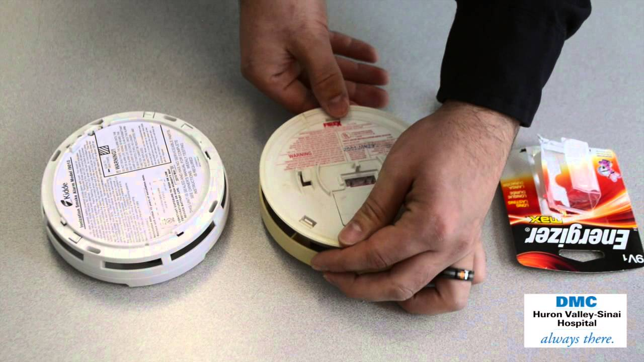 How To Change Batteries In Smoke Detectors Youtube